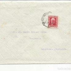 Sellos: CIRCULADA 1931 DE MALAGA A IGUALADA BARCELONA CON AMBULANTE UTRERA. Lote 81866656