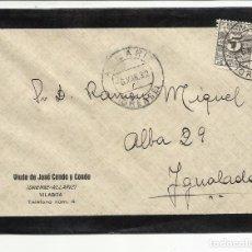 Sellos: CIRCULADA TRANSICION FILATELICA 1932 DE ALLARIZ ORENSE A IGUALADA BARCELONA . Lote 81874224
