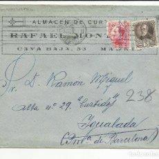 Sellos: CIRCULADA 1932 DE MADRID A IGUALADA BARCELONA CON MATASELLO DE LLEGADA. Lote 81874904