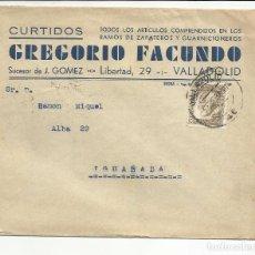 Sellos: CIRCULADA 1935 DE VALLADOLID A IGUALADA BARCELONA CON FECHADOR LLEGADA. Lote 81877904