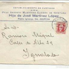 Sellos: CIRCULADA 1933 DE MURCIA A IGUALADA BARCELONA CON FECHADOR LLEGADA. Lote 81878368