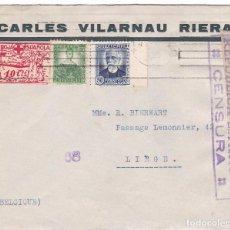 Sellos: F15-69- CARTA BARCELONA -BELGICA. VIÑETA CRUZ ROJA . Lote 82256552