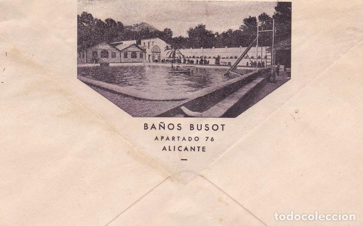 Sellos: F15-51- Carta Publicitaria Baños Busot Alicante-Suiza. ver Dorso y sellos - Foto 2 - 82290820