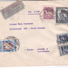 Sellos: F15-49- CARTA MADRID -SUIZA + BENÉFICO 1938. Lote 82291840