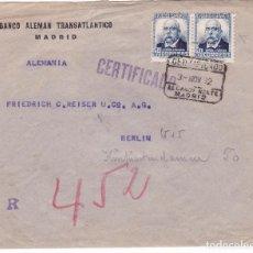Sellos - F15-48- Carta Certificado MADRID - BERLIN 1932 . Pareja sellos Perforados BAT - 82292076