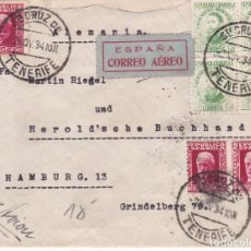 Sellos: F15-45- CARTA SANTA CRUZ DE TENERIFE -ALEMANIA 1934. Lote 82299364