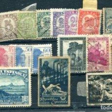 Sellos: AÑO 1938. 18 SELLOS DIFERENTES. MATASELLADOS, UNOS POCOS NUEVOS CON LIGERO ÓXIDO.. Lote 82759923