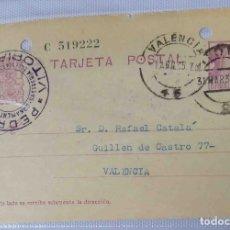 Sellos: TARJETA POSTAL. MATRONA. VITORIA REPÚBLICA ESPAÑOLA 15C. 31MAR1935.. Lote 83717532