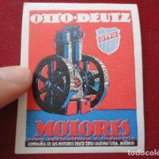 Sellos: OTTO DEUTZ. MOTORES PARA AGRICULTURA E INDUSTRIA. MADRID. VIÑETA COMERCIAL.. Lote 87239136