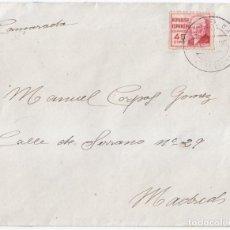Sellos - SOBRE CON SELLO DE 45 CTS DE PABLO IGLESIAS. BONITO FECHADOR VENTA DEL BAUL. GRANADA. 1938 - 91041720