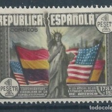 Sellos: R16/ ANIV. CONSTITUCION EE.UU, 1938, EDF. 763, CHARNELA GOMA ICTACTA. Lote 91843665