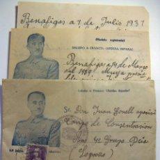 Timbres: CARTA DE 1937 CON SELLO DE 40 CTS DE ISABEL LA CATOLICA. Lote 92141950