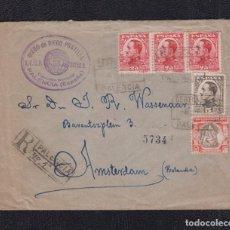 Sellos: 1931.- PALENCIA A AMSTERDAN (HOLANDA). Lote 92972255