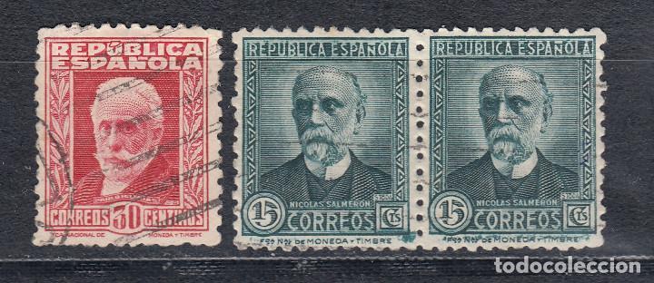 1931 EDIFIL 657 Y 659 USADOS. PERSONAJES (Sellos - España - II República de 1.931 a 1.939 - Usados)