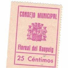 Sellos: SELLO DE 25 CENTIMOS FLOREAL DEL RASPEIG 1937 RR. Lote 93386155