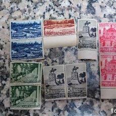Sellos: 10 SELLOS AYUNTAMIENTO DE BARCELONA FERIA DE BARCELONA 30 DE MAYO 14 DE JUNIO 1936. 5 CTS. Lote 95582207