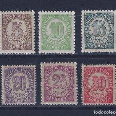 Sellos: EDIFIL 745-750 CIFRAS. 1938 (SERIE COMPLETA) (VARIEDAD...TAMAÑO 20 Y 30 CTS). MNH **. Lote 97285279