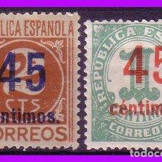 Sellos: 1938 CIFRAS HABILITADOS, EDIFIL Nº 742 Y 744 * . Lote 97377763