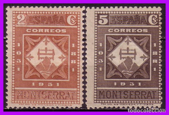 1931 IX CENTENARIO DE MONTSERRAT, EDIFIL Nº 637 Y 638 * * (Sellos - España - II República de 1.931 a 1.939 - Nuevos)