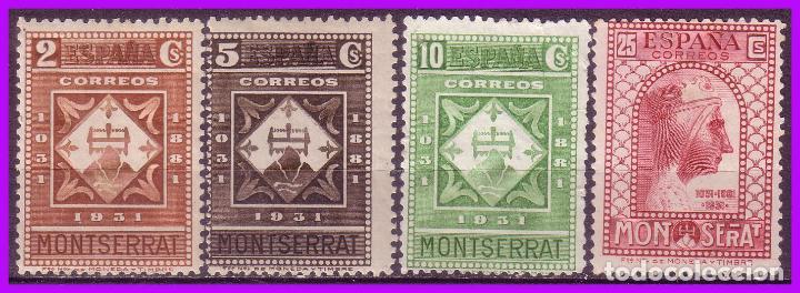 1931 IX CENTENARIO DE MONTSERRAT, EDIFIL Nº 637, 638, 639 Y 642 * / (*) (Sellos - España - II República de 1.931 a 1.939 - Nuevos)
