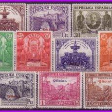 Sellos: 1931 III CONGRESO DE LA UPP, OFICIAL, EDIFIL Nº 620 A 629 * COMPLETA. Lote 97391843
