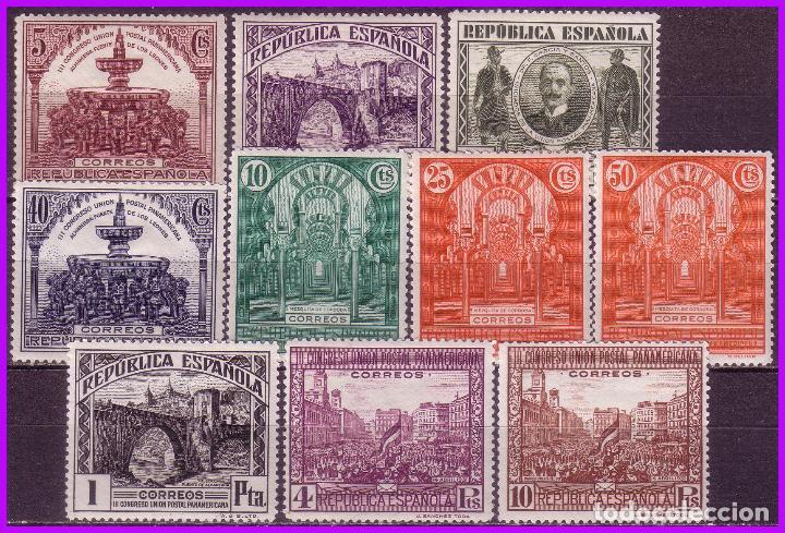 1931 III CONGRESO DE LA UPP, EDIFIL Nº 604 A 613 * COMPLETA (Sellos - España - II República de 1.931 a 1.939 - Nuevos)