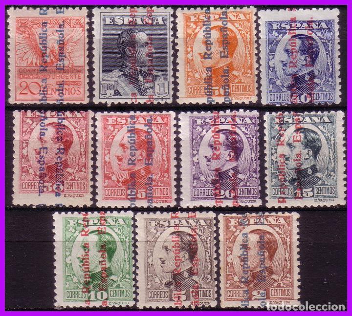 1931 ALFONSO XIII SOBRECARGA RE, EDIFIL Nº 593 A 603 * COMPLETA (Sellos - España - II República de 1.931 a 1.939 - Nuevos)