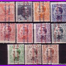 Sellos: 1931 ALFONSO XIII SOBRECARGA RE, EDIFIL Nº 593 A 603 * COMPLETA. Lote 97393375