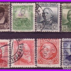 Sellos: 1933 PERSONAJES, EDIFIL Nº 681 A 688 (O) . Lote 97443727