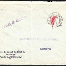 Sellos: FRONTAL CARTA CON BISECTADO Y MATASELLOS DE ORIHUELA. Lote 97637455