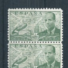 Sellos: R17/ 1939, JUAN DE LA CIERVA, EDF. 885, CAT. 50 €, BLOQUE DE 5 SELLOS, NUEVOS** SIN CHARNELA. Lote 97696083