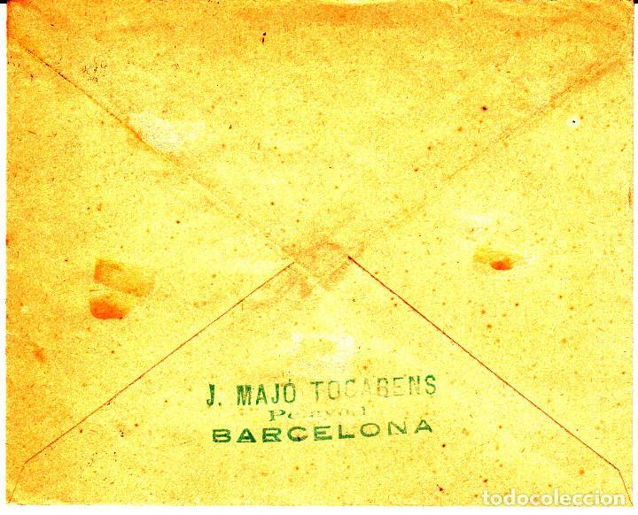 Sellos: CARTA AÑO 1938 CON SELLO NUM 791 Y MATASELLOS CERTIFICADO DE BARCELONA --MUY DIFÍCIL EN CARTA-- - Foto 2 - 98376987