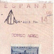 Sellos: ESPAÑA SELLO 2 PESETAS AUTOGIRO LA CIERVA EDIF. 769 1938. Lote 98587903