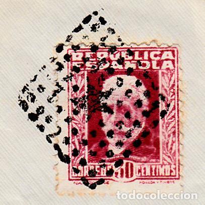 Sellos: SOBRE CON SELLO NUM.669 REPÚBLICA CON MATASELLOS DE ROMBO CON ESTRELLA-UTILIZADO 35 AÑOS ANTES-RARO- - Foto 2 - 98592599