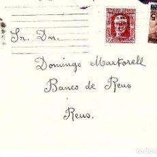 Sellos: CARTA CON SELLO NUM. 741 Y AYUNTAMIENTO DE BARCELONA. Lote 99751219