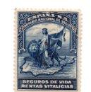 Sellos: SELLO ESPAÑA COMPAÑÍA NACIONAL DE SEGUROS DE VIDA RENTAS VITALICIAS . Lote 99906223