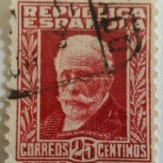Sellos: SELLO 1932 PABLO IGLESIAS. FUNDADOR DEL PSOE Y UGT II. 25 CTS. . Lote 100046155