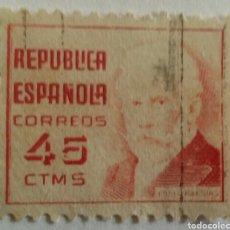 Sellos: SELLO 1936 PABLO IGLESIAS. FUNDADOR DEL PSOE Y UGT II. 45 CTS. . Lote 100047074