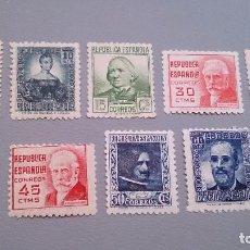 Sellos: 1936-1938 -II REPUBLICA - EDIFIL 731/740 MNH** (SERIE COMPLETA)CIFRA Y PERSONAJES -PRECIO CAT.42€ CE. Lote 101167135