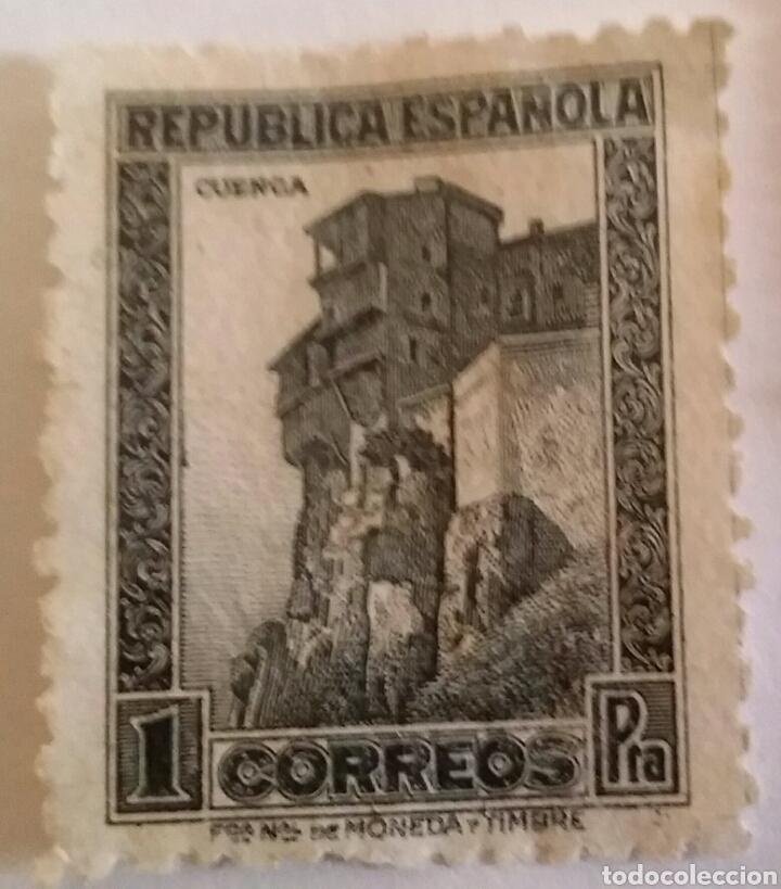 Sellos: SELLO 1 PTA. CUENCA. REPÚBLICA ESPAÑOLA - Foto 2 - 101370235