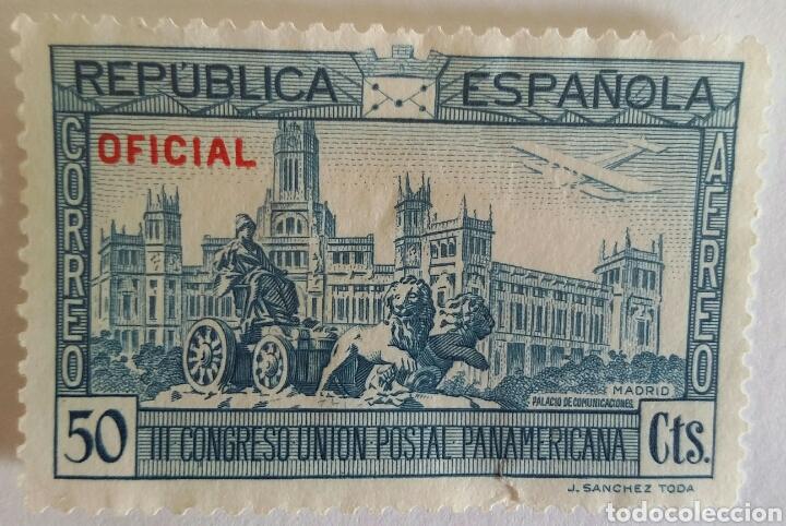 Sellos: SELLO 1931 PLAZA SE CIBELES Y EL PALACIO DE COMUNICACIONES. III CONGRESO UNIÓN POSTAL PANAMERICANA - Foto 2 - 101373211