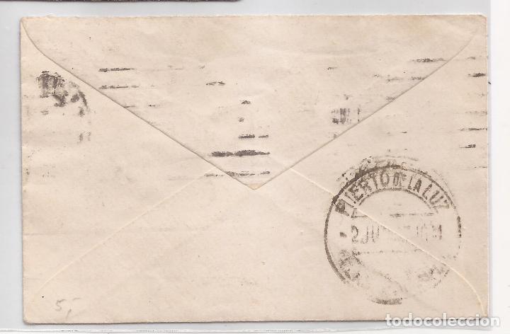 Sellos: 1932 Sobre circulado a Puerto de la Luz Sello 25c Especial movil - Foto 2 - 101665663