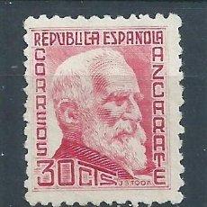 Sellos: R25/ ESPAÑA EDIFIL 686, MH*, 1933-35, CATALOGO 17,00€, PERSONAJES. Lote 103064963