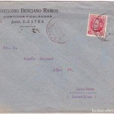 Timbres: F28-13-CARTA PUBLICITARIA FERIA DE SAN MIGUEL 1935. ZAFRA BADAJOZ. VER DORSO. Lote 105107167