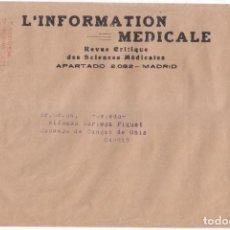 Francobolli: SOBRE CON FRANQUEO MECÁNICO EB MADRID. 1934. MEMBRETE DE LA REVISTA L INFORMATION MEDICALE.. Lote 105343331