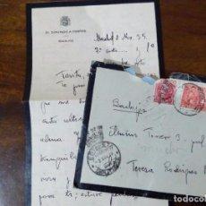 Sellos: CARTA DE DIPUTADO POR BADAJOZ EN CORTES. MATASELLOS ESTAFETA CONGRESO DIPUTADOS. 1935. CORONA MURAL. Lote 105918583