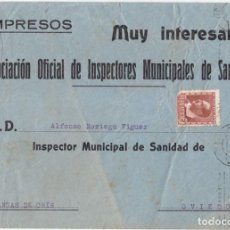 Sellos - SOBRE CIRCULADO COMO IMPRESOS DE MURCIA A CANGAS DE ONÍS. ASTURIAS. 1933? - 107111071