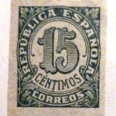 Sellos: SELLOS DE ESPAÑA 1938. CIFRAS. 15 CTS. NUEVO. SIN DENTAR. EDIFIL 747.. Lote 107280395