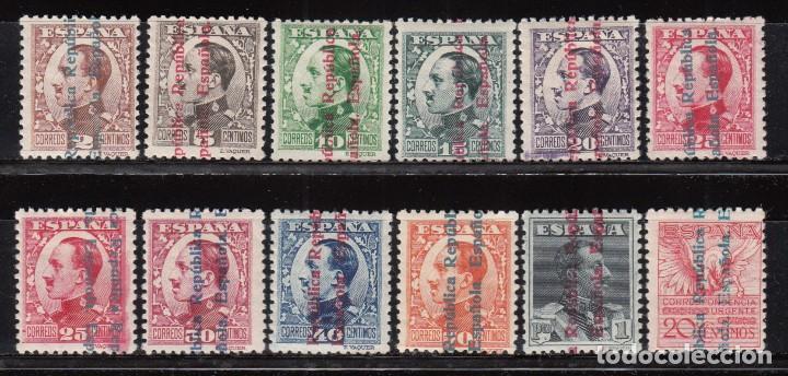 ESPAÑA , 1931 EDIFIL Nº 593 / 603 / * / , ALFONSO XIII SOBRECARGADOS REPÚBLICA ESPAÑOLA (Sellos - España - II República de 1.931 a 1.939 - Nuevos)