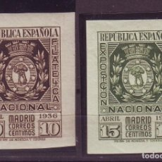 Sellos: 1936. ESPAÑA 727/28 MNH**EXPOSICION FILATELICA MADRID VC 190 EUROS. Lote 107789831